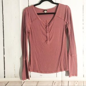 Free People • We The Free Ribbed Long Cuff Thermal